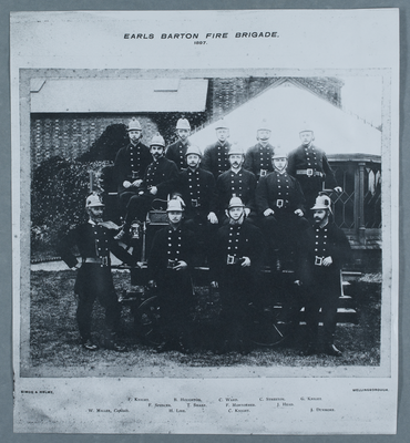 P/7021 - 1897 photo Earls Barton Fire Brigade