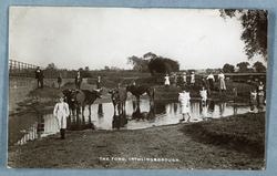 P/11577 - People and cattle in ford at